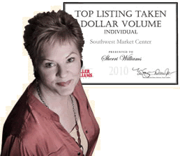 Photo of Sherri Williams with Top Listing Award, Sherri Williams, real estate agent austin, award winning Austin TX real estate agent, best realtors in austin texas