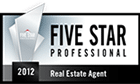 Five Star Professional Award 2012, real estate agent award