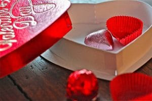 almost empty valentine candy box, austin valentines day gift ideas, valentines day, valentines day gift ideas, austin texas, austin tx