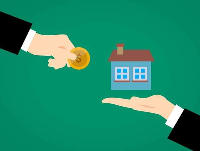 drawing of hand giving coin to another hand holding home, pricing your home correctly, pricing your home to sell, what is my home worth, sherri williams realtor, keller williams realty, austin real estate agents, real estate agents in austin tx