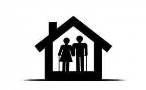 elderly couple in home, senior housing options in austin