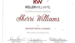 Bronze Medal Award 2020